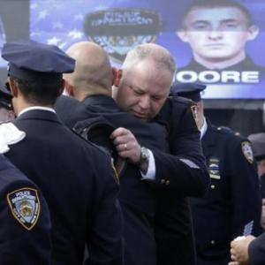 Busloads Of Police Arrive For Funeral Of New York Officer