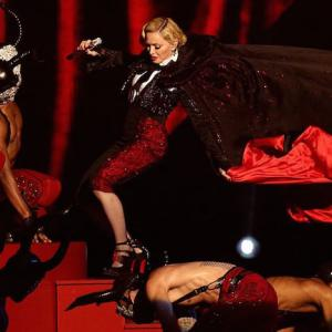 Madonna Takes A Tumble Down Stairs At The Brit Awards