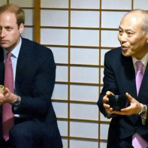 Prince William Starts First Japan Visit With Green Tea
