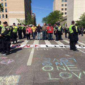 In Wisconsin's Capital City, Police Protests Stay Peaceful